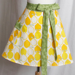Lemons Half Apron by Apron Queen - I think half aprons are absolutely charming, and this lemon fabric is charming times twenty.