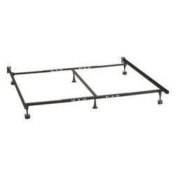 Queen-King-California King Bed Frame - Sleep support in sturdy, high-carbon steel. Standard height foundation frames are strong and resilient. Mattresses and foundations available (sold separately).