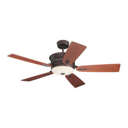 """Emerson - Emerson CF990VNB Highgrove 52"""" 5 Blade Indoor Ceiling Fan with Blades, Light Kit - Features:"""