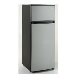 Avanti - Avanti 7.4 Cu. Ft. 2 Door Refrigerator Platinum - 7.4 Cu. Ft. Capacity Refrigerator|Adjustable/Removable Glass Shelves|Adjustable/Removable Door Bins|Reversible Doors for Left or Right Swing|One Door Rack Holds 2-Liter Bottles|See Through Crisper with Glass Cover|Ice Cube Tray Included|Interior Light|Full Range Temperature Control|Leveling Legs|CFC Free R600A Refrigerant|Energy Star Rated|Color: Platinum  This item cannot ship to APO/FPO addresses.  Please accept our apologies.