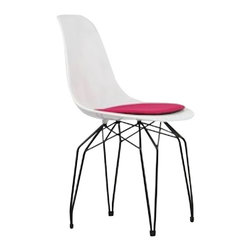 Kubikoff - Diamond Side Chair, Orange, Orange Seat Pad, Black Powder Coated - Diamond Side Chair