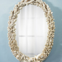 Coral Mirror - I can see this mirror in a powder room. It's fun and not too formal — just like a beach house.