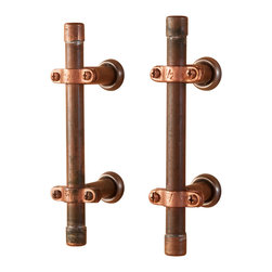 Nine & Twenty - Industrial Copper Cabinet Handle - Sturdy. Stylish. Slick. These cabinet handles attach easily to any cabinet  or drawer in the kitchen, bedroom, bathroom, or workshop.