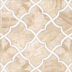 Talya Multi Finish 13 7/16x13 7/8 Gaia Di D Marble Waterjet Mosaics -