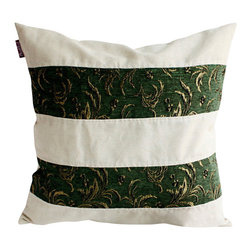 Blancho Bedding - Green Lake Linen Stylish Patch Work Pillow Floor Cushion  19.7 by 19.7 inches - Aesthetics and Functionality Combined. Hug and wrap your arms around this stylish decorative pillow measuring 19.7 by 19.7 inches, offering a sense of warmth and comfort to home buddies and outdoors people alike. Find a friend in its team of skilled and creative designers as they seek to use materials only of the highest quality. This art pillow by Onitiva features contemporary design, modern elegance and fine construction. The pillow is made to have invisible zippers, linen shells and fill-down alternative. The rich look and feel, extraordinary textures and vivid colors of this comfy pillow transforms an ordinary, dull room into an exciting and luxurious place for rest and recreation. Suitable for your living room, bedroom, office and patio. It will surely add a touch of life, variety and magic to any rooms in your home. The pillow has a hidden side zipper to remove the center fill for easy washing of the cover if needed.