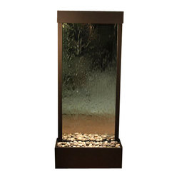 Tranquil River Floor Fountain, Antique Bronze, Mirror - The Tranquil River Floor Fountain is a centerpiece of serenity and beauty of nature that is perfect for your home or office. This fountain brightens up a room with its tranquil, flowing sounds and a feel of being one with nature.