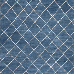 Jaipur Rugs - Hand-Tufted Durable Wool Blue/Ivory Area Rug (2 x 3) - Influenced by Moroccan motifs and texture, the Riad Collection adds a sense of culture to your home. Thick pile evokes a sense of warmth and comfort.