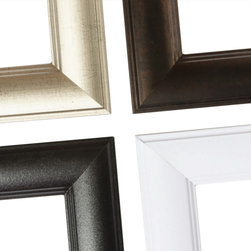 MirrorMate Frame in Pemaquid Slim - One of over 60 styles available at mirrormate.com to frame bare, bathroom mirrors while still on the wall.