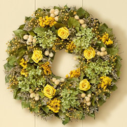 Preserved Golden Rose Wreath