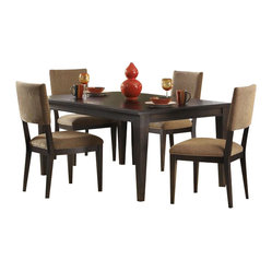 Liberty Furniture Visions 6 Piece 84x42 Dining Room Set in Mocha, Dark Wood