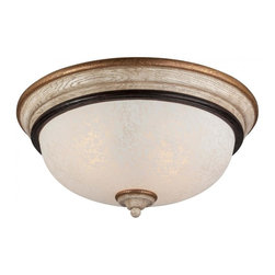 Minka-Lavery - Minka-Lavery Accents Provence 2 Light Flush Mount - 1237-580 - This Two Light Bowl Flush Mount has a White Finish and is part of the Accents Provence Collection.