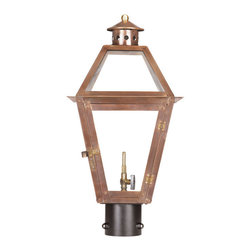 ELK - Elk Lighting 7930-WP Outdoor Gas Post Lantern Grande Isle Collection - Outdoor Gas Post Lantern Grande Isle Collection In Solid Brass With AnAged CopperFinish.