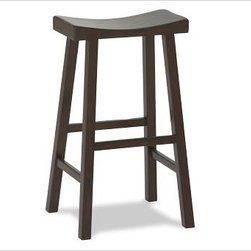 Tibetan Barstool | Pottery Barn - Have I mentioned that bar stools and counter stools are a kitchen designer's nemesis? Trying to find new ones, comfortable ones, etc. is a tall order. These are the most comfortable and versatile ones I've found that are backless. Don't be fooled by imitations, this one has a curved seat that makes it more comfy to sit without a back.