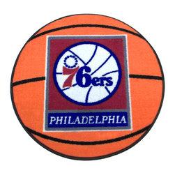 Fanmats - NBA Philadelphia 76ers Rug Basketball Shaped Mat - FEATURES: