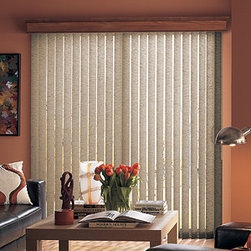 Bali - Bali Fabric Vertical Blinds: Linen II - Bali verticals add drama, dimension and contemporary styling to patio doors and wider windows.  The Linen II fabric vertical blind collection offers the light tropical look of woven grasses or a thickly woven fabric.