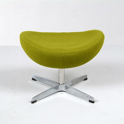 Modern Classics - Jacobsen: Egg Chair Ottoman Reproduction - Features: