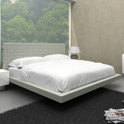 "Casabianca Furniture - Zack Full Bed in Grey - Casabianca Furniture designers have made this beautiful upholstered bed with durable leatherette material (PVC), as well as -�is made with excellent hardware and quality products.; Full bed completely upholstered in high quality leatherette material (PVC); Inner materials composed of high density foam and MDF; Legs are made of metal.; Weight: 175 lbs; Dimensions: 63""W x 83 1/2""D x 43 1/2""H"