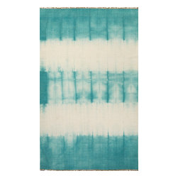 Jaipur Rugs - Flat-Weave Easy Care Wool Blue/Ivory Area Rug (2 x 3) - Tie dye technique adds pop of color to these flat-weave rugs.