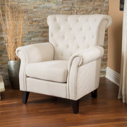 Christopher Knight Home - Christopher Knight Home Franklin Tufted Light Beige Fabric Club Chair - Add luxurious seating to your home with this handsome Christopher Knight Home fabric club chair. This traditionally styled piece features classic tufting and a neutral shade,ensuring it blends easily into the decorating scheme in your living room.