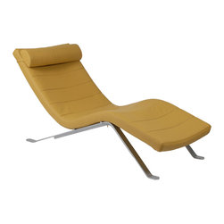 Euro Style - Euro Style Gilda Lounge Chair Seat // Saffron/Silver Base - Relax. You have a new friend. The Gilda Lounge will always be there to help you ease away the tension and rest your weary head. Upholstered over foam, Gilda invites you to stop and smell the roses. Or the toner as the case may be.