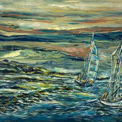 Kozyuk Gallery - Coastal Travel, Painting - Dimensions: 36X60 inches
