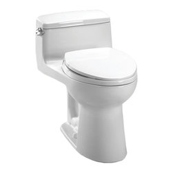 Toto - Toto MS864114E#01 Cotton White Eco Supreme One Piece Toilet, 1.28 GPF - Toto MS864114E#01 Cotton White Eco supreme One Piece Toilet. Toto is the world's largest plumbing products manufacturer, they have been designing and innovating plumbing fixtures, accessories, showers, and for over 90 years. Each collection and product that Toto makes is unique in appearance and performance. This Toto MS864114E#01 Cotton White Eco supreme One Piece Toilet features a high gloss enamel Vitreous China constructed body designed to minimize chipping and scratching. This toilet also includes an upgraded elongated toilet bowl, and a powerful and quiet gravity Flush. This toilet comes in Cotton White.