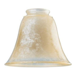 Westinghouse - Westinghouse 4-7/8 in. x 5-7/8 in. Antique Luminosity Bell 8139300 - Shop for Lighting & Fans at The Home Depot. This Westinghouse Lighting 4-7/8 in. x 5-7/8 in. Antique Luminosity Bell features a traditional bell shape and an aged iridescent look that lends elegance to any decor. Westinghouse's customizable products inspire creativity for quick and easy home upgrades. Choose your shade, select your fixture and finish, and enjoy your new custom lighting. Because it features a standard 2-1/4 in. fitter, this shade will work with a variety of lighting configurations--from mini-pendants to wall fixtures. Install this shade in your bathroom, kitchen, hallway, or bedroom. Wherever you place it, you will enjoy the shade's aged look. The shade is 4-7/8 in. high x 5-7/8 in. in diameter. The handcrafted nature of glassware produces minor differences in design and sizing. Subtle variations will occur from piece to piece, adding to each one's unique qualities. Measurements may vary slightly.