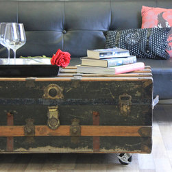 Marc's Drab To Fab DIY Projects - Repurposed Antique Trunk Coffee Table