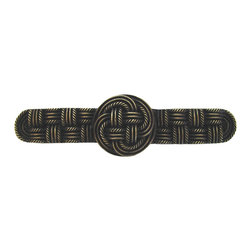 By the Shore - Classic Weave Pull in Antique Brass