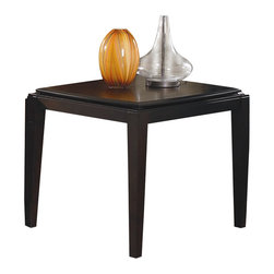 Homelegance - Homelegance Daytona End Table in Dark Espresso - Homelegance - End Tables - 141904 - At any angle the unique design of the Daytona Collection is evident. The convex lines of the tabletop create movement and provide the focal point for this contemporary occasional offering. The drama is completed by the dark espresso finish on radiant patterned birch veneers.