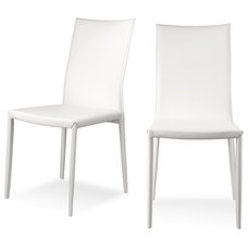Modern Dining Chairs Lucy White Dining room Chair Set