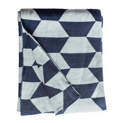 Fab Habitat - Fab Habitat Throws - Faros-Blue - Fab Habitat features knitted cotton throws in vivid colors and patterns. From our renowned Metro collection, these throws are certain to keep you warm from the cold of winter and add a perfect accent to your sofa or bed.