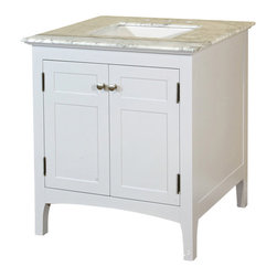 Bellaterra Home - 29 Inch Single Sink Vanity-Wood-White Cabinet Only - The ultimate mix and match vanities. Four simple, yet elegant vanity styles and 1 bridge unit combined with a variety of finishes, drawers, and counter tops offer the best in customization so you can find the perfect look for your bathroom. Combine a vanity with two bridges for extra counter space, or two vanities with one bridge for a double vanity with your personal touch. The combinations are nearly endless!