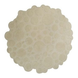 EcoFirstArt - Soap Carpet - Ever wish you could walk on a cloud of bubbles? When you use this round hand tufted carpet on your floor, you'll feel like you're doing just that. This 100 percent wool carpet has a soap-inspired pattern that will look so sophisticated in your home.