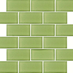 Tilesbay.com - Sample of 2x4x8MM Mint Green Subway Mosaic Glass Tile - Mint Green Subway 2x4x8MM Glass Tiles in 12x12 are the epitome of freshness for walls and back-splashes in kitchens and bathrooms in both commercial and residential applications.