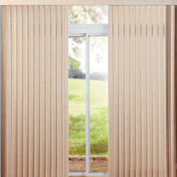 Levolor - Levolor Amalfi Fabric Vertical Blinds - I have been using vertical blinds like these in my kitchen for years. The only drawback is that they can get dirty quite quickly.