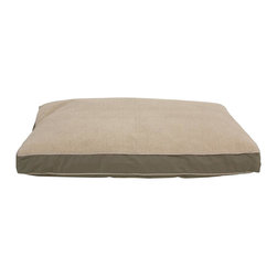 """Carolina Pet Company - Four Season """"Jamison"""" W/Cashmere Berber Top And Contrast Cording - Truly a bed for all seasons.  Warm, plush Berber top reverses to cool classic twill with contrast piping. Zippered removable cover is machine washable. Overstuffed with our high loft poly fill."""
