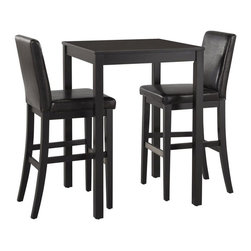 Home Styles - Home Styles Nantucket 3 Piece Bistro Set in Black - Home Styles - Patio Bistro Sets - 5033358 - Give your home a cozy inviting atmosphere with the Nantucket 3 Piece Bistro Set. Its sanded worn edges and distressed black finish provides the casual elegance that's great for any home decor styles.  The Nantucket 3 Piece Bistro Set by Home Styles is constructed of hardwood solids in a sanded and distressed black finish providing an aged worn look.