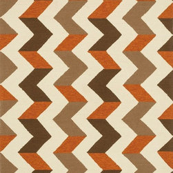 """Loloi - Indoor/Outdoor Palm Springs 7'6""""x9'6"""" Rectangle Brown-Orange Area Rug - The Palm Springs area rug Collection offers an affordable assortment of Indoor/Outdoor stylings. Palm Springs features a blend of natural Brown-Orange color. Handmade of 100% Polypropylene the Palm Springs Collection is an intriguing compliment to any decor."""