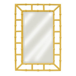 EuroLux Home - New Mirror Yellow Painted Hardwood Island - Product Details
