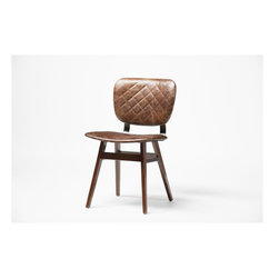 Four Hands - Sloan Dining Chair - Havana - Balancing dramatic scale with flea marketing-find design, the Irondale Collection offers comfortable seating in fresh lines and buttery top grain leather.