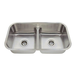 PolarisSinks - Polaris P215 16-Gauge Half-Divide Stainless Steel Sink - Stainless Steel is the most popular choice for today's kitchens due to its clean look and durability. The beautiful brushed satin finish helps to hide small scratches that may occur over the lifetime of the sink. Our Stainless Steel sinks are made from high quality 16 gauge steel, which is 25% thicker than 18 gauge. Most models are made of one piece construction that ensures the sturdiest kitchen sink you will find. Our sinks are made from 304 grade stainless steel that contains 18% chromium and 8-10% nickel and are guaranteed not to rust. Each sink is fully insulated and has a sound dampening pad. Our stainless steel sinks are backed by a limited lifetime warranty. Each sink comes with a cardboard cutout template and mounting hardware.