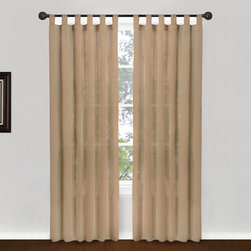 Vintage House by Park B. Smith - Linen Tab Top Window Panel - - Vintage house all natural 100% cotton buttery soft voile light and airy 50 x 84-inch tab top treatment. Dry clean only  - made in india  - items included in the set: one window panel Vintage House by Park B. Smith - COHO4G-LIN
