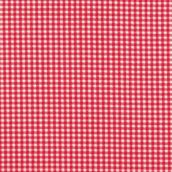 "18"" Bedskirt Gathered Cherry Red Gingham Check"