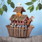 KOOLEKOO - Noah's Ark Birdhouse - Two by two, the animals go in this one-of-a-kind birdhouse overflowing with fanciful fun!