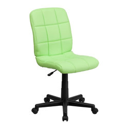 Flash Furniture - Flash Furniture Office Chairs Fabric Executive Swivels X-GG-NEERG-1-1961-OG - This contemporary designed computer chair will highlight a dull or attractive work space. Get away from the ordinary office chair with the attractive quilted, tufted upholstery. [GO-1691-1-GREEN-GG]