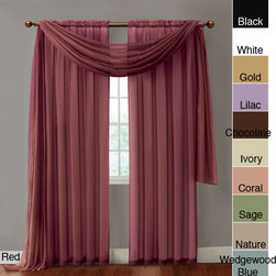 None - Infinity Sheer Rod Pocket Curtain Panel - Add a burst of color to any room with this sheer rod pocket panel. Made with 100 percent polyester,the panel comes in a variety of lengths and colors,so you can choose the best fit for your room,and the solid pattern works with any decor style.