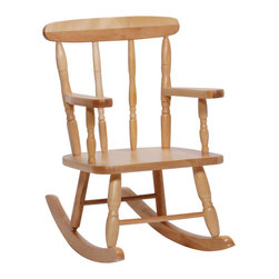 """Steffywood - Steffywood Toddler Solid Maple Pre Kids Rocking Rocker Chair - Preschool children's' rocker is constructed of solid maple. Seat height is 10"""" from floor and the total height of rocker is 22"""". Ships fully assembled.Solid maple construction. Non toxic environmentally safe durable clear finish. Ships completely assembled. GreenGuard Certified."""