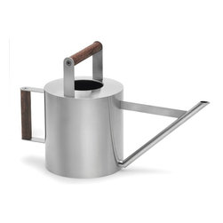 Blomus - Verdo Stainless Steel 4 L Watering Can - Capacity: 4 L. Wooden handles. Made of stainless steel. Designed by Floz Design. 1-Year manufacturer's defect warranty. 17.97 in. L x 6.91 in. W x 10.47 in. H