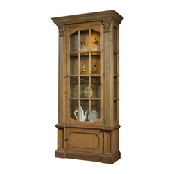 French Heritage - Vine Vitrine - Your dining room could use a showpiece. And your china could use a showcase. Sophisticated and chic, the two-door glass display case works with any decor.